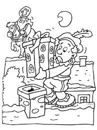 Op Het Dak Sint En Piet Pinterest Coloring Pages En December