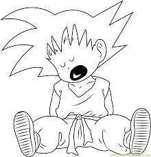 Small Picture Goku Sleeping Coloring Page Free Goku Coloring Pages