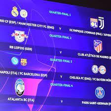 دوري أبطال أوروبا: باريس سان جرمان-أتلانتا في ربع النهائي وموقعة محتملة بين  ريال مدريد ويوفنتوس