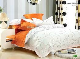 orange white bedding orange and white bedding home design premium cotton orange white line modern pattern orange white bedding
