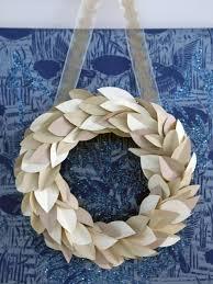 contemporary paper wreath