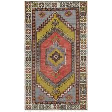 vintage hand knotted tribal rug