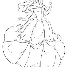 Princess Belle Coloring Pages Free Printable Belle Coloring Princess