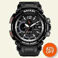 Mens Army Watches Military <b>LED Bracelet Digital Watches</b> Black ...