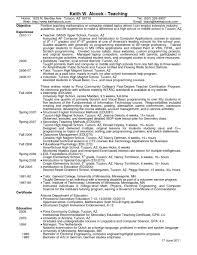 Teacher Resume Objective Sample Resume Format For High School Math Teacher English Summary