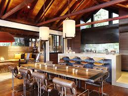 hillside contemporary furniture. Hillside House Furniture Dining Space Design At Contemporary Nestled On The Hills Of Mill
