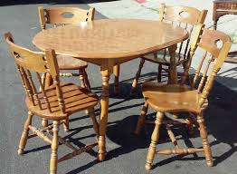 UHURU FURNITURE  COLLECTIBLES SOLD Early American Table Set With - Early american dining room furniture
