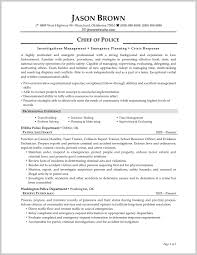 Examples Of Police Resumes Striking Design Of Police Chief Resume Examples 24 Resume 11