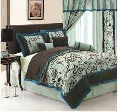 teal queen comforter. Teal Queen Comforter Sets Turquoise Bedding And Brown Set Inside Intended For .