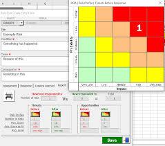 Risk Register Template Excel Risk Management Free