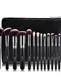 anastasia brush kit. 15pcs wool rose gold makeup brush sets professional with pu leather case anastasia kit