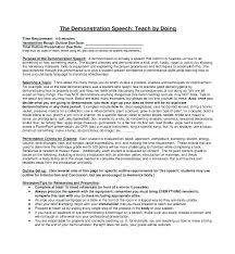 Demonstration Speech Outline Sample Informative Speech Outline Format Online Writing Lab View