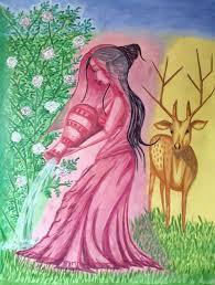 dear artist saatchi art dear shakuntala painting by debasis kuila