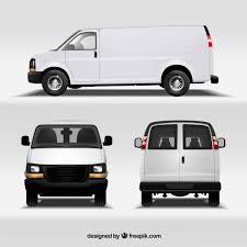 car front vector. van in different views car front vector