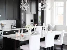Granite Kitchen Tables Kitchen Table Stunning White And Black Kitchen Decor With
