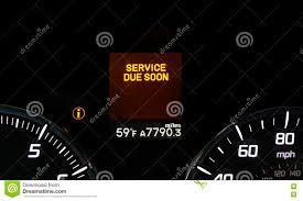 Service Light On Dashboard Car Service Warning Light Stock Photo Image Of Malfunction