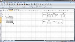 Cash Flow Calculation Excel Present Value Multiple Cash Flows In Excel