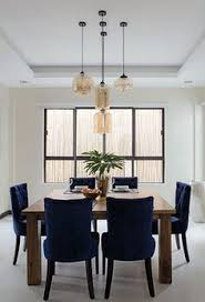 since the husband s favorite color is blue he loves these customized dining chairs these