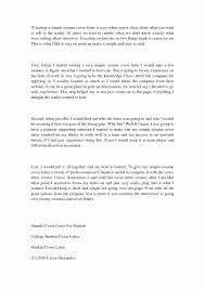 College Resume Cover Letter Sample Cover Letters for Resumes Unique Free Sample Cover Letter 83