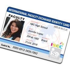 Isecard International Card isec Identification Student