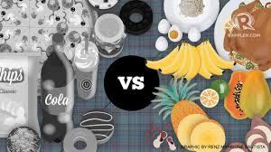 Good Food Bad Food Chart Junk Food Vs Good Food Whats More Expensive