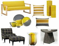yellow furniture. Yellow Gray Top 15 Furniture Accessory Picks Fall 2012 Regarding And Home Decor Plan 13