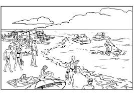 Printable beach pictures coloring pages are a fun way for kids of all ages to develop creativity, focus, motor skills and color recognition. Printable People On The Beach Coloring Page For Both Aldults And Kids