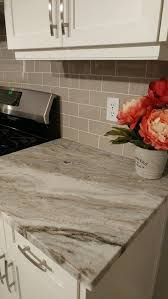fantasy brown granite counters taupe glass tile backsplash and midwest tile lincoln ne