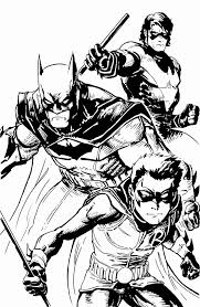 robin and nightwing coloring pages
