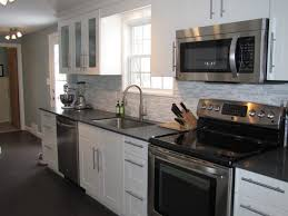kitchen design white cabinets stainless appliances. Interesting Appliances Kitchen Design White Cabinets Stainless Appliances Interior Throughout G