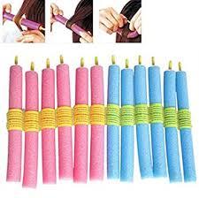 Buy New <b>12PCS Soft Hair</b> Curler Roller Curl Hair Bendy Rollers DIY ...