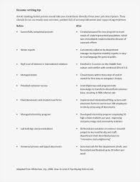Resume Bullet Points Examples Format Cover Letter For Summer Job New