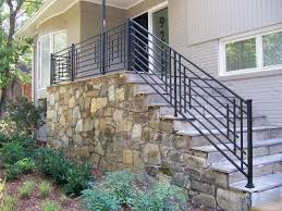 Outdoor Staircase faux stone staircase with metal handrails outdoor staircase with 8415 by xevi.us