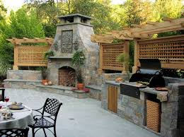 outdoor kitchens with fireplace.  With View In Gallery In Outdoor Kitchens With Fireplace Homedit