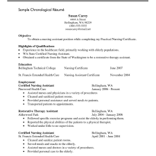 Cna Resume No Experience Resume Sample For Fresh Graduate Without