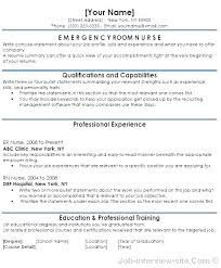 Nursing Resume Examples Best Registered Nurse Resume Emergency Nurse Resume Er Nurse Resume