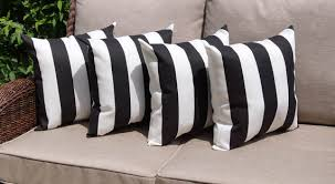 Black And White Striped Patio Cushions 635