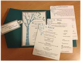 15 diy vintage wedding invitations & vintage save the dates Simple Folded Wedding Invitations simple and effortless, the tree branch design is what you are looking for add it to a pocket fold envelope and *viola* an elegant and vintage look simple pocket wedding invitations