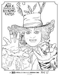 Small Picture Check out these Alice Through The Looking Glass Coloring Pages