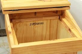 wooden trash cans diy woodwork build bin plans wood kitchen can