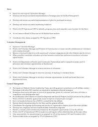 director of operations job description         habitat responsibilities