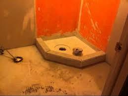 corner shower installation