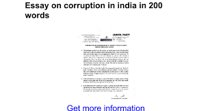 essay on corruption in in words google docs