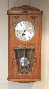 oak westminster chime wall clock