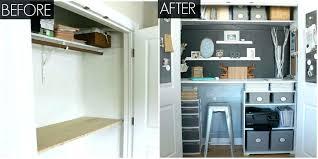 wonderful small office. Small Office Ideas Closet Desk Wonderful Makeover Organizing . E