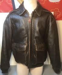 vintage avirex er jacket leather a 2 flight usaf military mens m dark brown