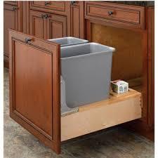 kitchen pull slide waste rubbish rev a shelf double  quart  gallon waste bins w rev a motion slides min