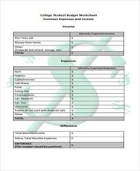how to budget as a college student sample college budget forms 7 free documents in word pdf