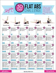 30 Day Flat Abs Challenge Blogilates
