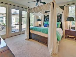 Canopy Bed Crown Molding Traditional Master Bedroom With Crown Molding French Doors In